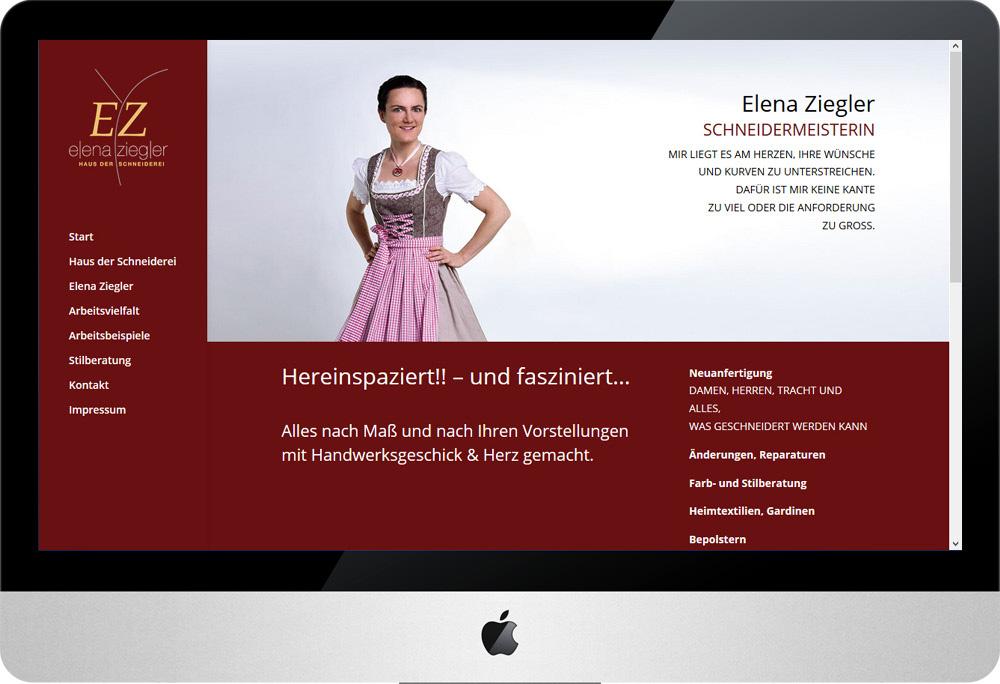 Schneiderei Ziegler, Internet