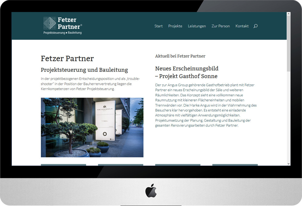 Fetzer Partner, Internet